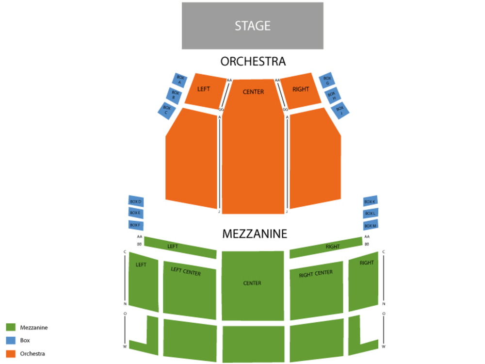 Ed Mirvish Theatre seating map and tickets