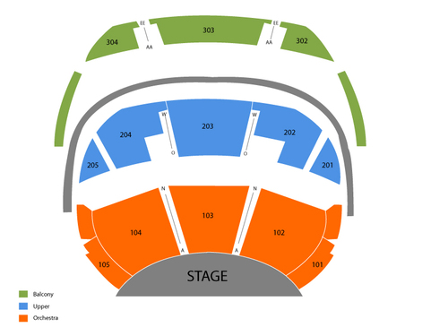 O Theatre - Bellagio Las Vegas Seating Chart