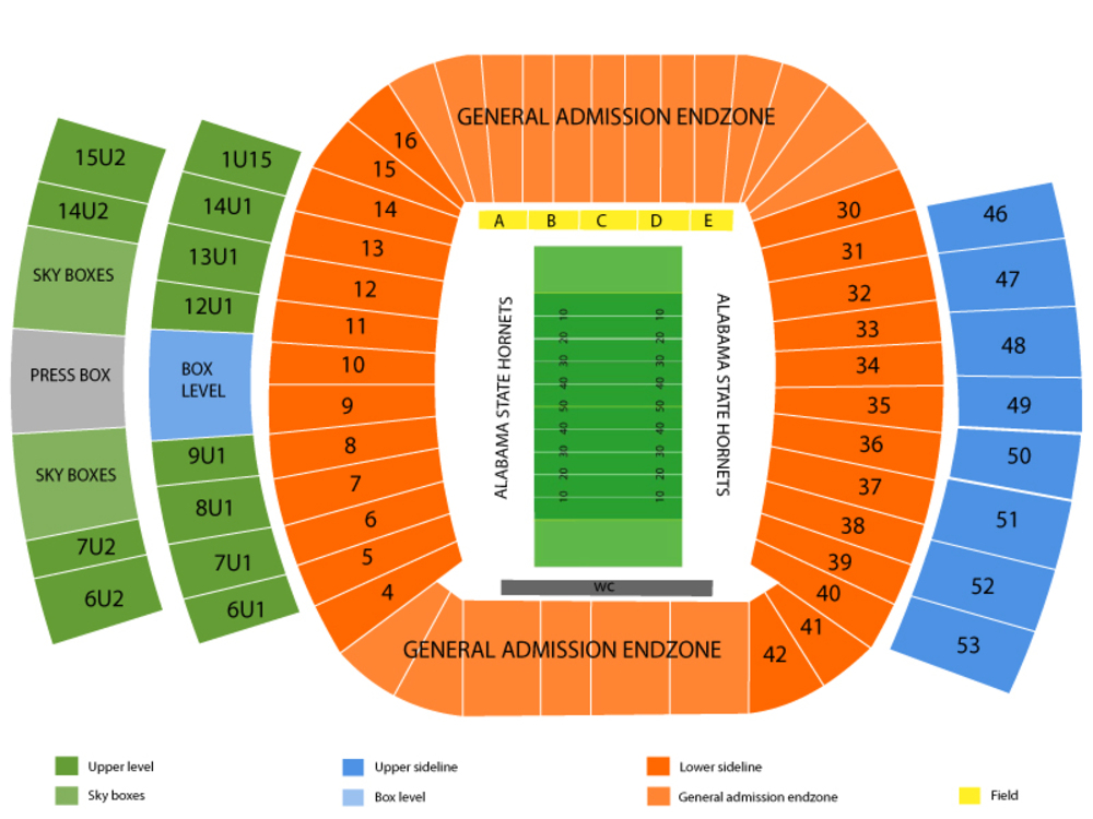 Birmingham Bowl (Memphis vs. Wake Forest) Venue Map