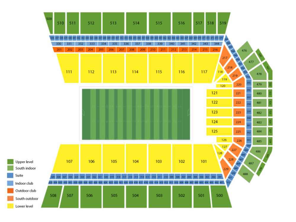 Auburn Tigers at Arkansas Razorbacks Football Venue Map