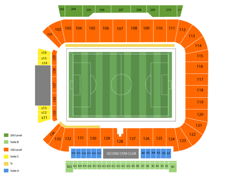 Sporting Kansas City at Chicago Fire Venue Map