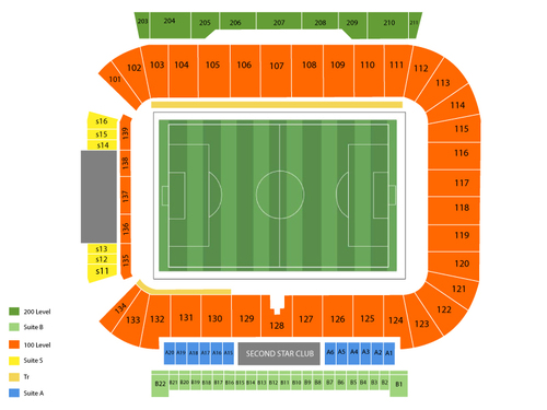 Houston Dynamo at Chicago Fire Venue Map
