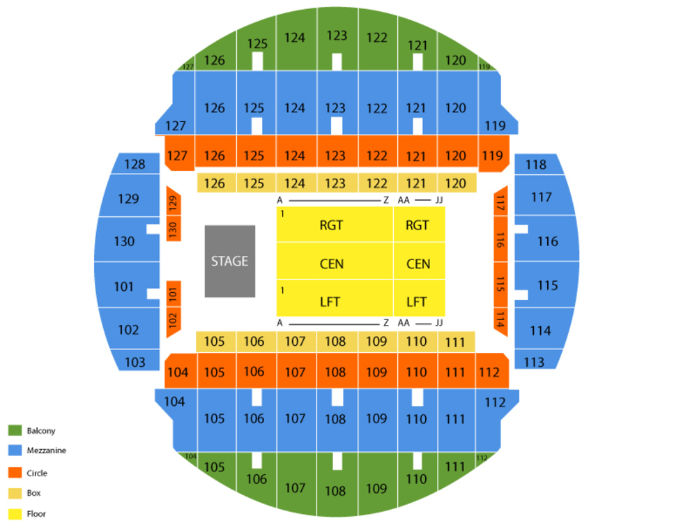 Bridgeport Sound Tigers at Charlotte Checkers Venue Map