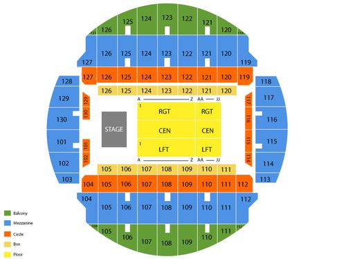 Bojangles Coliseum Seating Chart