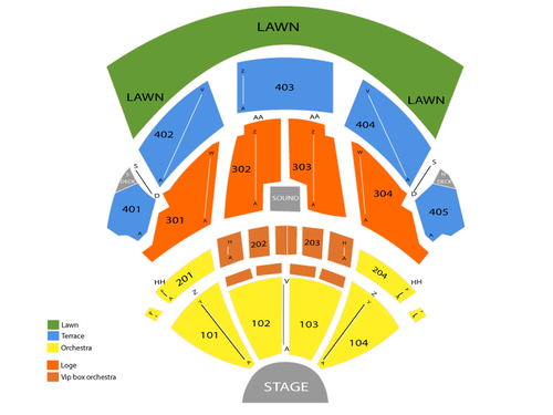 Pnc bank arts center seating chart events in holmdel nj