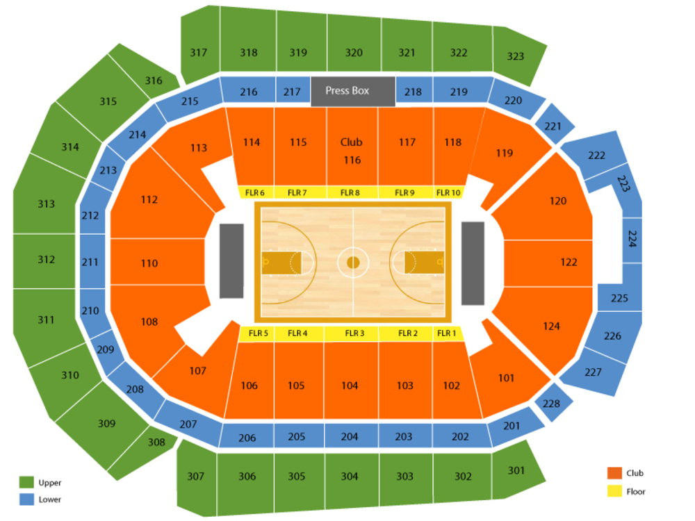 NCAA Men's Basketball Des Moines - All Sessions Venue Map