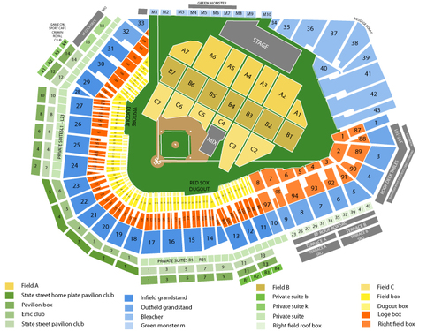 Foo Fighters Venue Map
