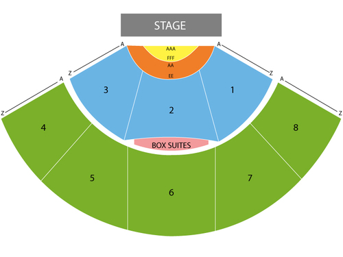 Daryl Hall & John Oates Venue Map