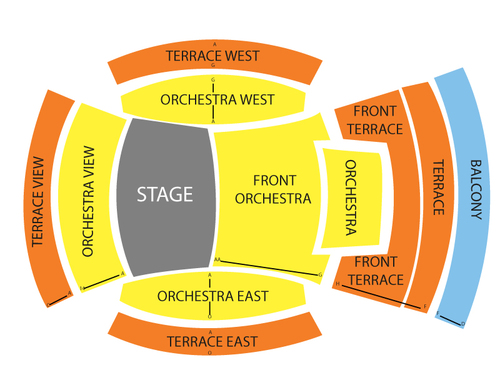 Los Angeles Philharmonic: LA Master Chorale Venue Map
