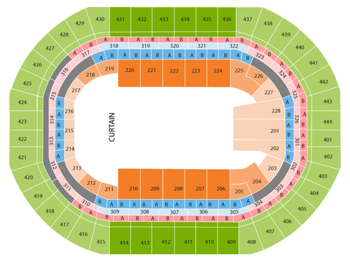 Ringling Brothers and Barnum and Bailey Circus Venue Map