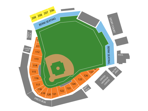 Nashville Sounds at Round Rock Express Venue Map