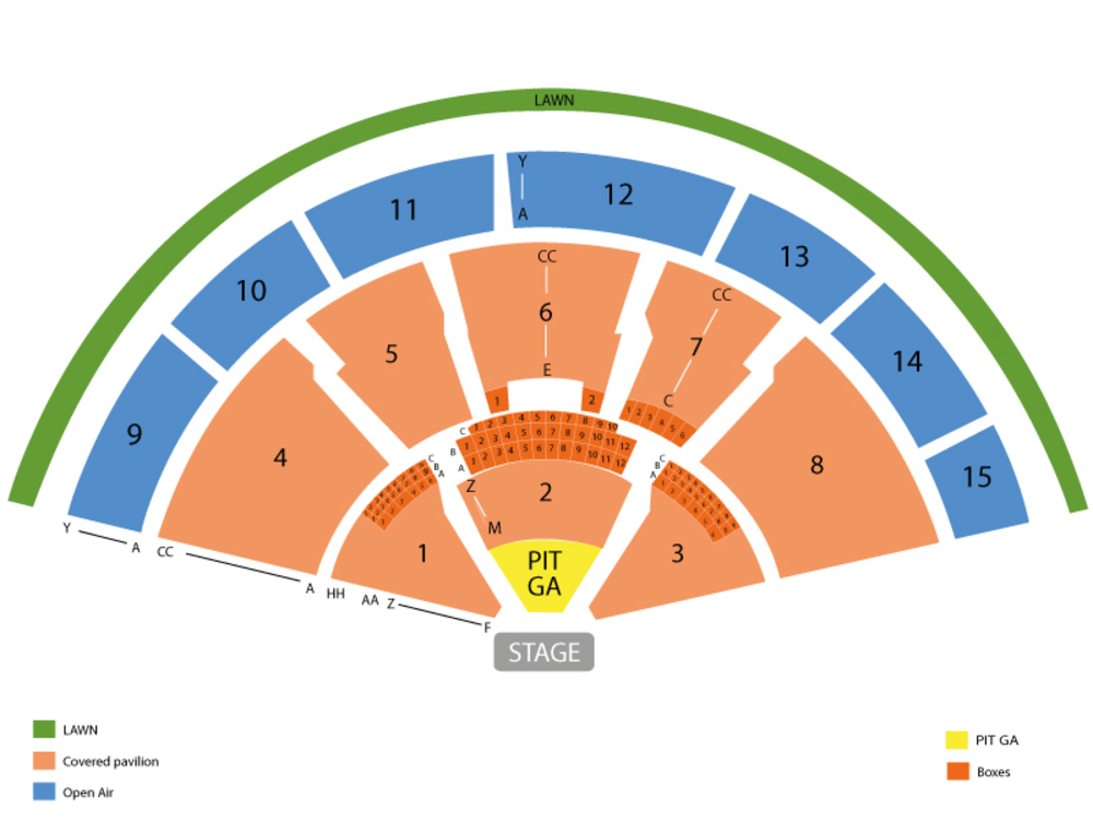 Santana and Earth, Wind & Fire (Rescheduled from 08/12/2020) Venue Map
