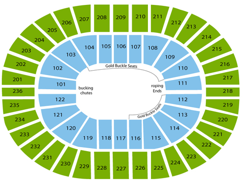Thomas & Mack Center Seating Chart