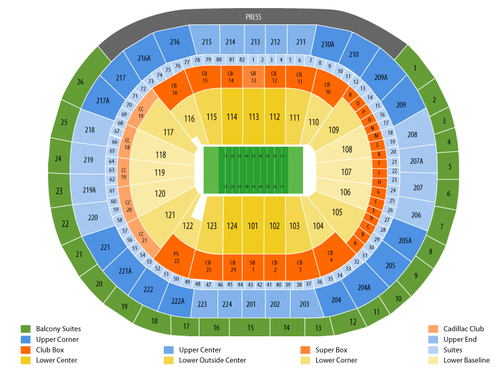 New Orleans VooDoo at Philadelphia Soul Venue Map