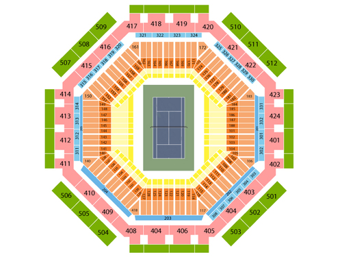 Indian Wells Tennis Garden - Stadium 1 Seating Chart