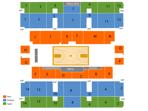 Reilly Center Seating Chart