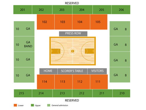 Rose Hill Gym Seating Chart