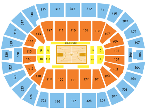 NBA Preseason: Dallas Mavericks at Oklahoma City Thunder Venue Map