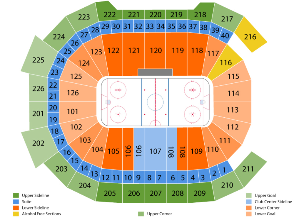 Bridgeport Sound Tigers at Hershey Bears Venue Map