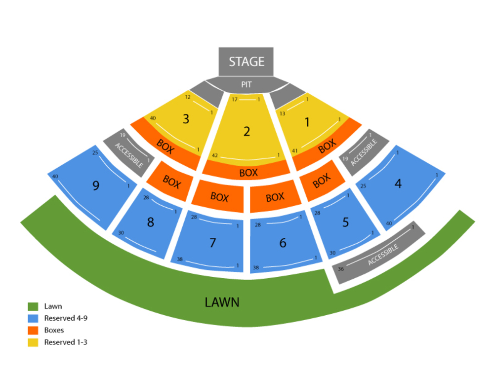 Luke Bryan (Rescheduled From 10/19) Venue Map