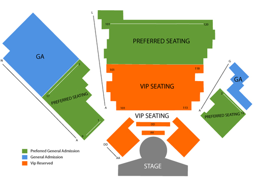 V Theater - Planet Hollywood Resort & Casino Seating Chart