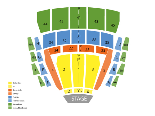 Shen Yun Performing Arts (Rescheduled from 3/27/20) Venue Map