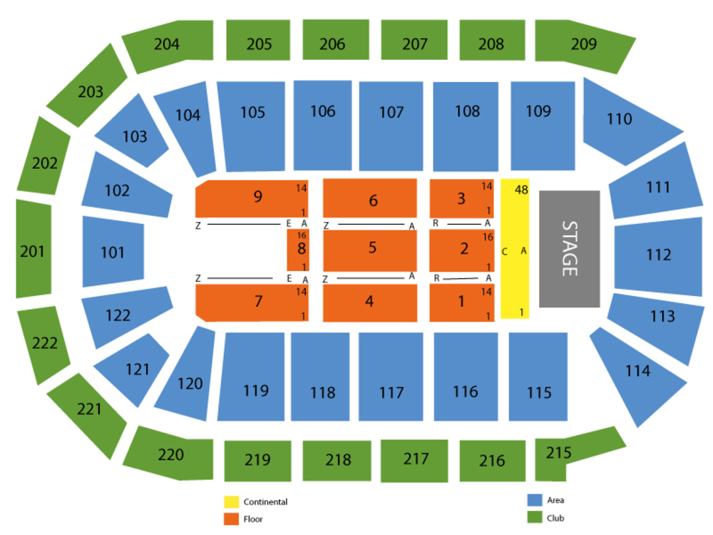 Janet Jackson (Rescheduled from 6/7) Venue Map