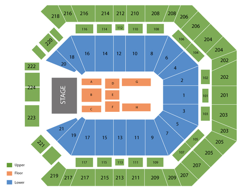 Mgm grand garden arena seating chart events in las vegas nv
