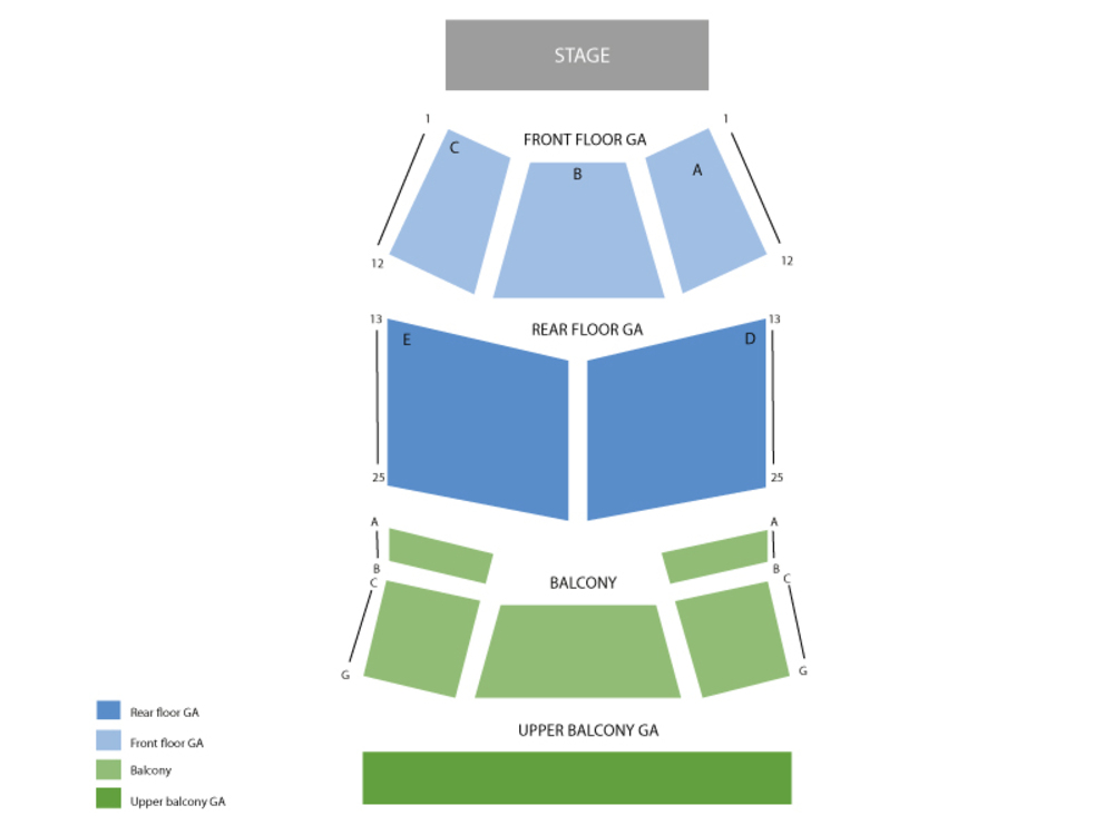 Cedric the Entertainer Venue Map