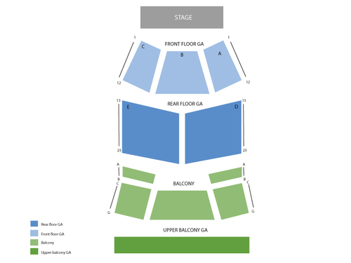 Rick Springfield Venue Map