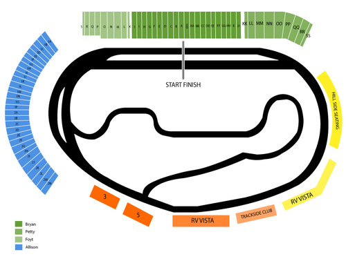 NASCAR Sprint Cup Series: AdvoCare 500 Venue Map