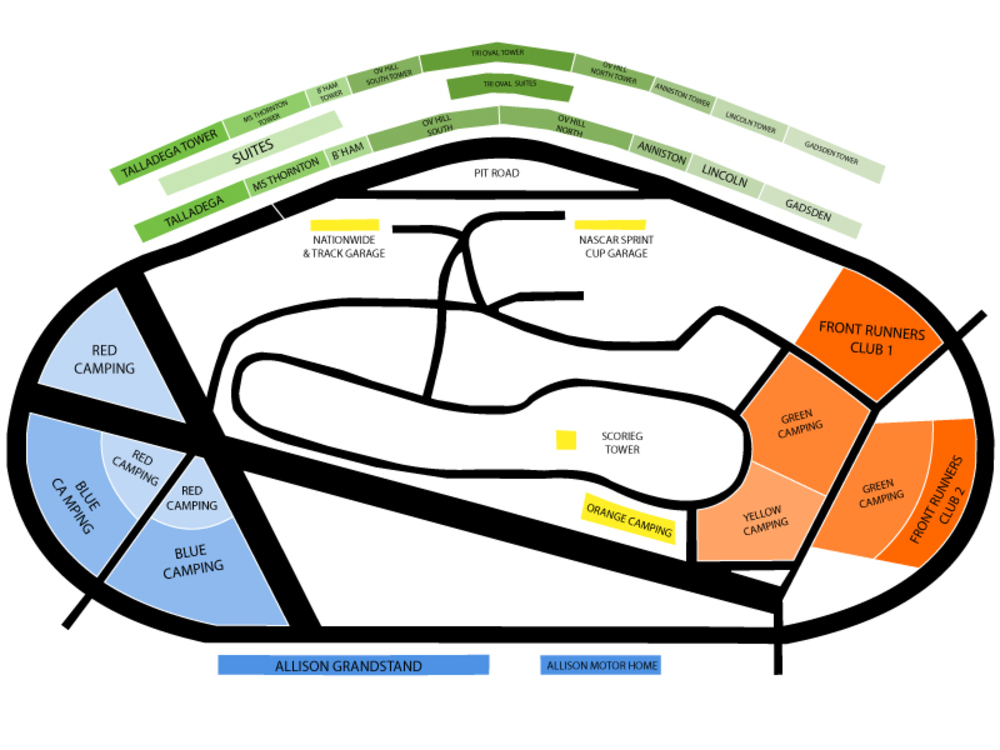 NASCAR Camping World Truck Series - Freds 250 Venue Map