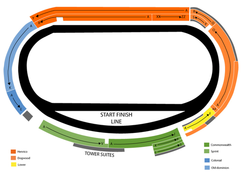 NASCAR Sprint Cup Series: Federated Auto Parts 400 Venue Map