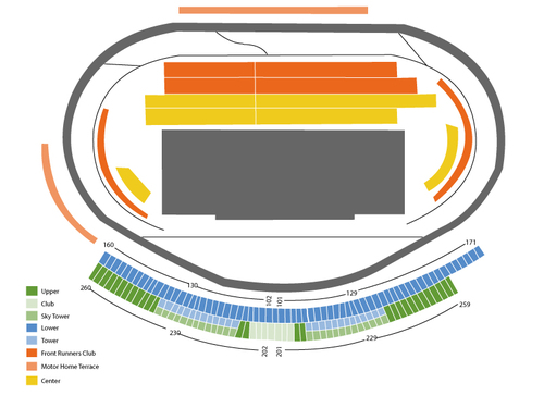 NASCAR Sprint Cup Series: Hollywood Casino 400 Venue Map