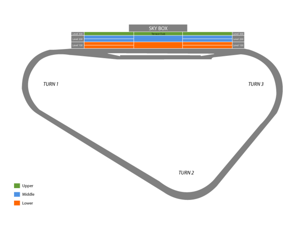 Seating Chart for Auto Racing Seating Chart at Pocono Raceway