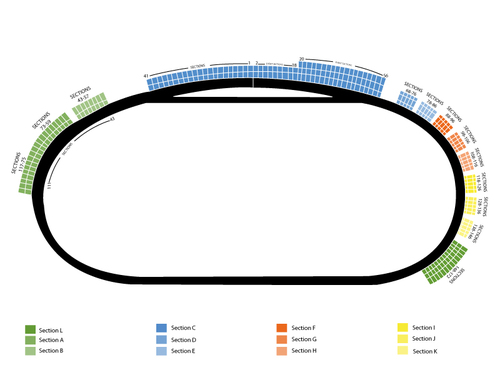 NASCAR Sprint Cup Series: Pure Michigan 400 Venue Map