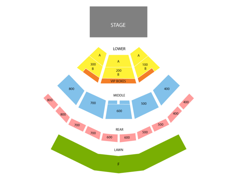 Xfinity Theatre seating map and tickets