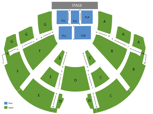 Center Stage Theatre - GA Seating Chart
