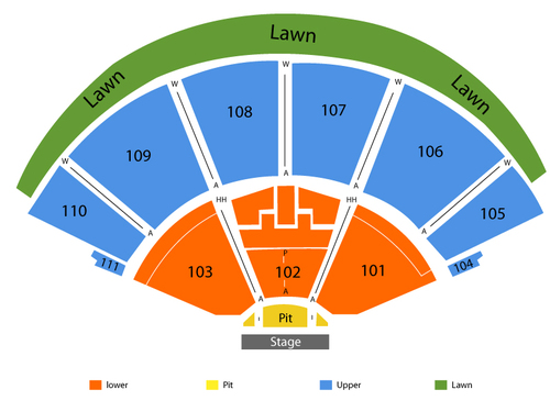 The Cynthia Woods Mitchell Pavilion Seating Chart
