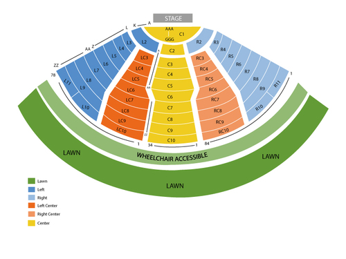 Dave Matthews Band with Grace Potter and The Nocturnals Venue Map