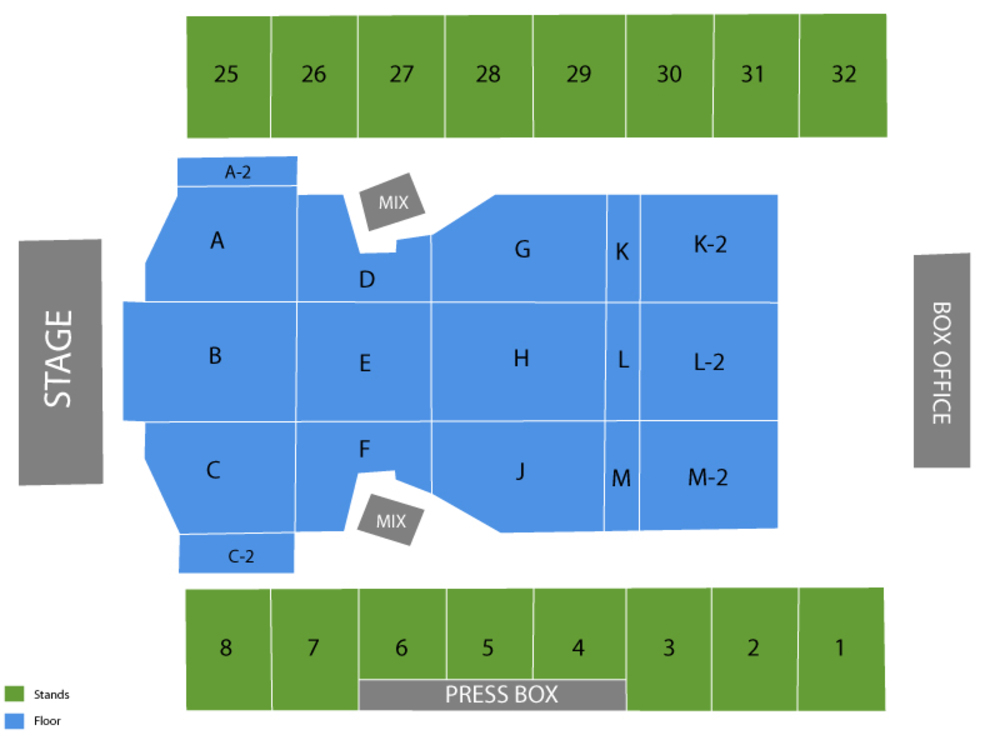Hersheypark Stadium seating map and tickets