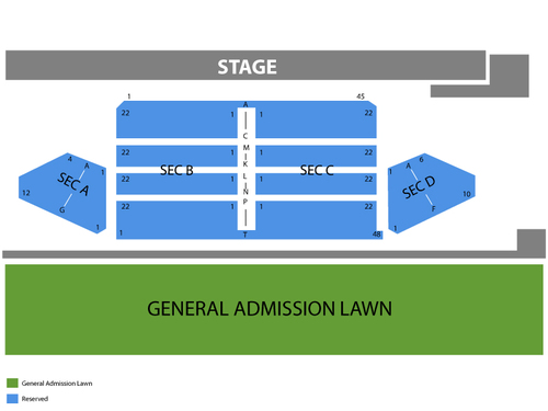 Marina and The Diamonds Venue Map