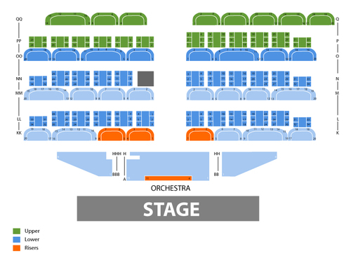 Main Showroom - Harrah's Las Vegas Seating Chart