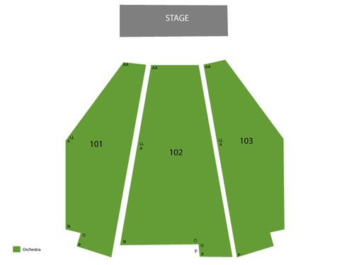 Terry Fator Theatre - Mirage Las Vegas Seating Chart