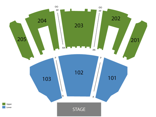 Cirque Du Soleil: Criss Angel Believe Venue Map