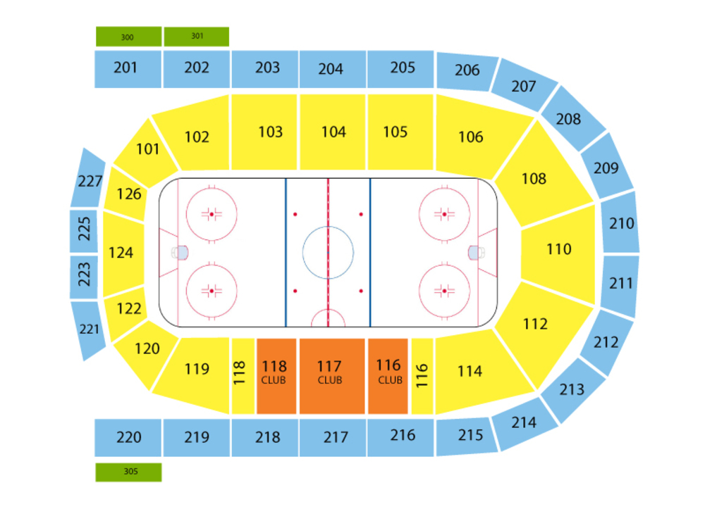 Milwaukee Admirals at Wilkes Barre-Scranton Penguins Venue Map