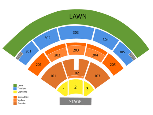 Toby Keith and Kip Moore Venue Map