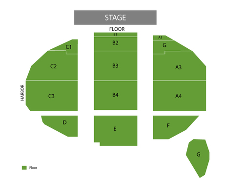 Humphrey's Concerts By The Bay Seating Chart