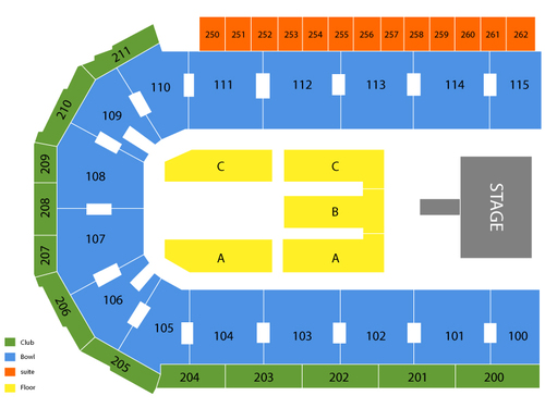 United Wireless Arena Seating Chart