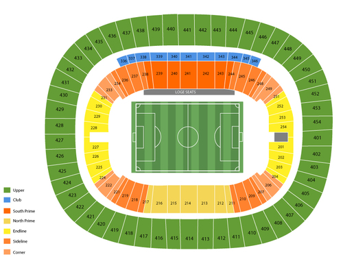 Los Angeles Galaxy at Vancouver Whitecaps Venue Map